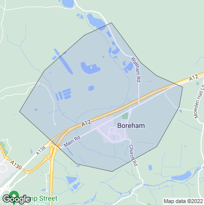 Map of property in Boreham