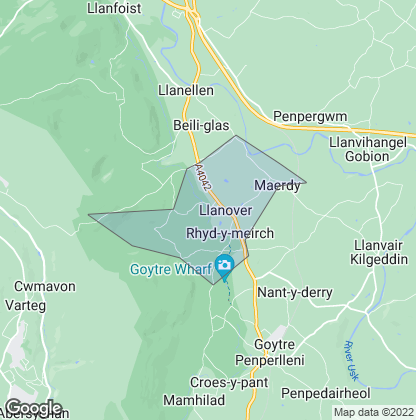 Map of property in Llanover