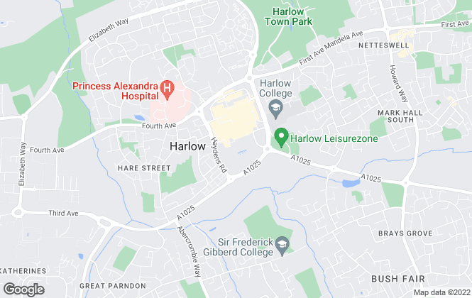 Map for Harlow Council, Harlow