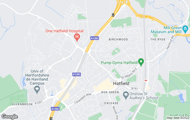 Map for Davies & Co, Hatfield
