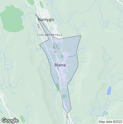 Map of property in Blaina