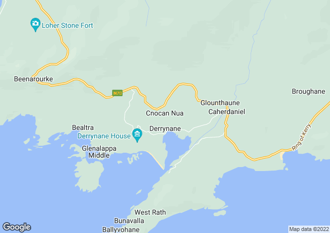 Map for Catherdaniel, Kerry