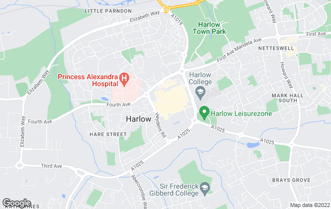 Map for Bell and Co Estate Agents Limited, Harlow