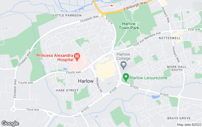 Map for Alexander Hamilton Estates, Harlow