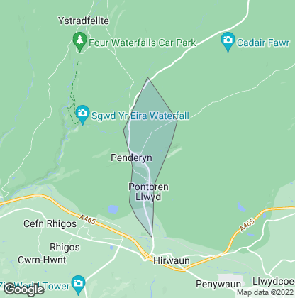 Map of property in Penderyn