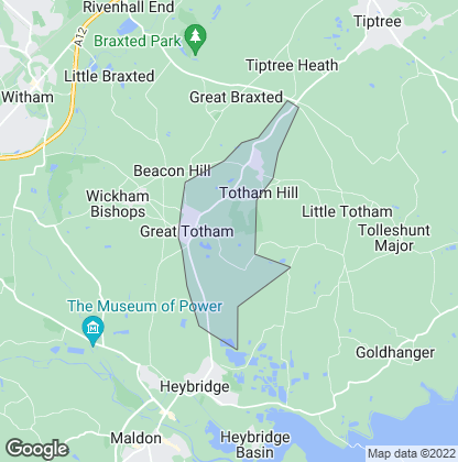 Map of property in Great Totham