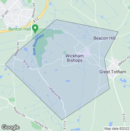 Map of property in Wickham Bishops