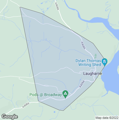 Map of property in Laugharne