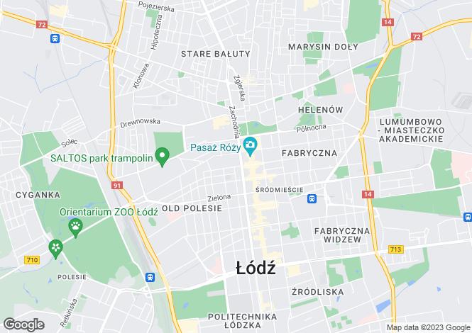 Map for Lódzkie, Lódz