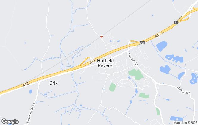 Map for Hamilton Piers, Hatfield Peverel