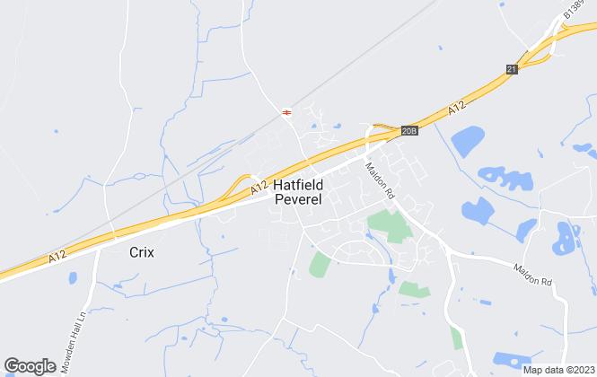 Map for Paul Mason Associates, Hatfield Peverel