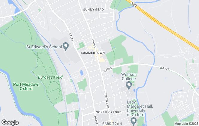 Map for Butler Sherborn, Summertown