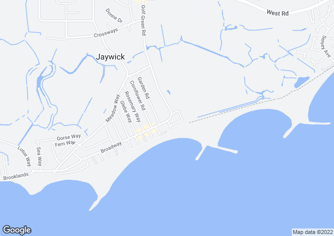 Map for Golf Green Road, JAYWICK