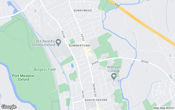 Map for Butler Sherborn, Summertown