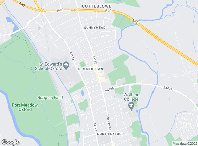 Map for Penny & Sinclair, Summertown - Lettings