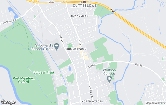 Map for Penny & Sinclair, Summertown - Sales