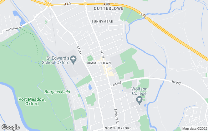 Map for Chancellors, Summertown