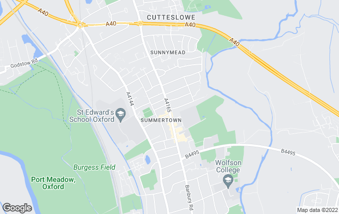 Map for OxfordApartments, Summertown