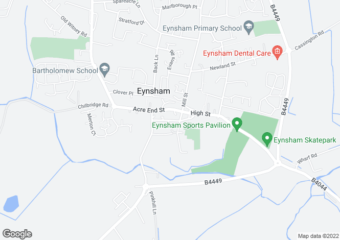 Map for Swan Street, Eynsham, Oxfordshire
