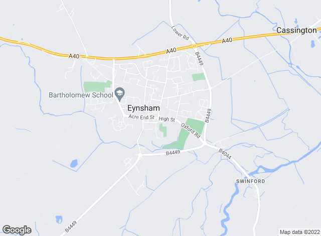 Map for Abbey Rentals, Eynsham