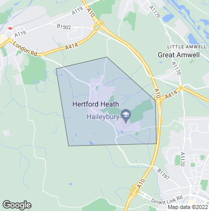 Map of property in Hertford Heath