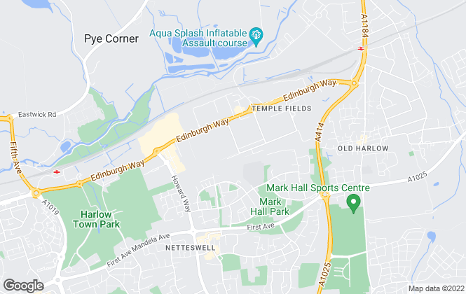 Map for Tencell Limited, Harlow