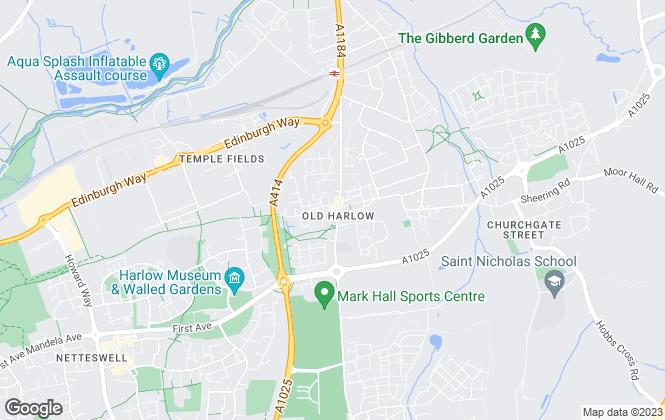Map for Geoffrey Matthew Estates, Old Harlow