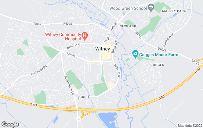 Map for Allen & Harris, Witney
