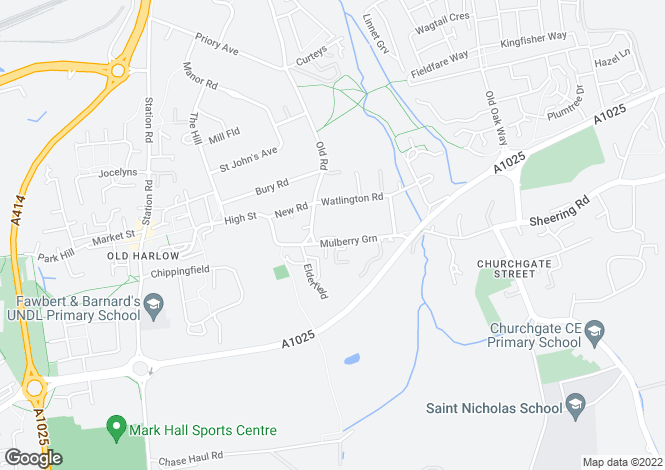 Map for Mulberry Green, Old Harlow, Essex