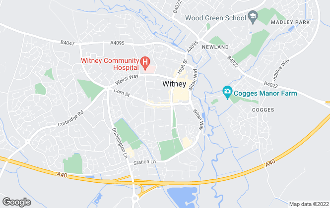 Map for Chancellors, Witney