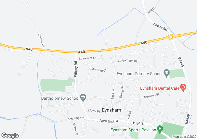 Map for Eynsham (Plot 7 Star Close) Pye Homes