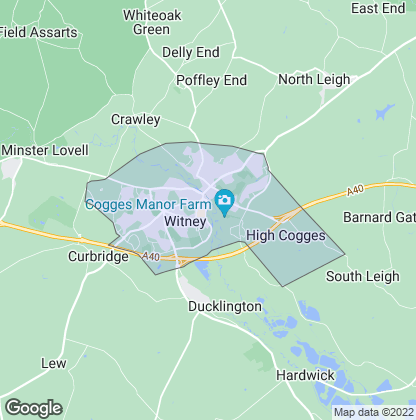 Map of property in Witney