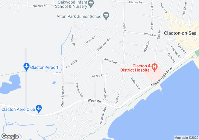Map for Uplands Road, CLACTON-ON-SEA, Essex