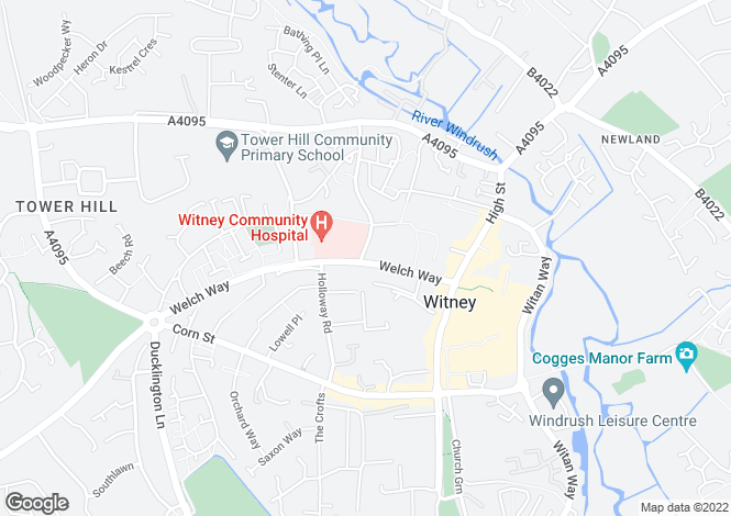 Map for Woodford Way, Witney, Oxon