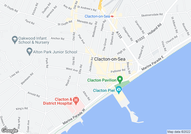 Map for 73 - 75, Pier Avenue, Clacton On Sea, Essex, CO15 1QE