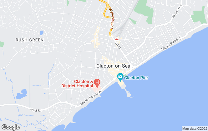 Map for E-ZY Properties, Clacton-on-Sea