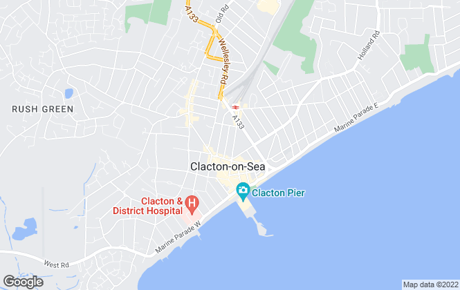 Map for More Estate Agents, Clacton-On-Sea