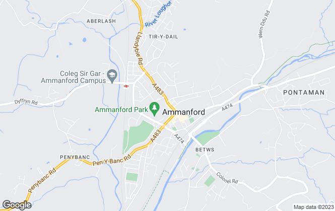 Map for John Francis, Ammanford
