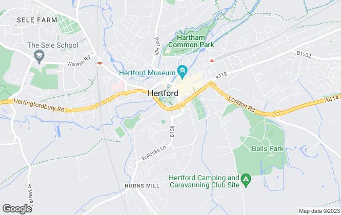 Map for SAB, Hertford