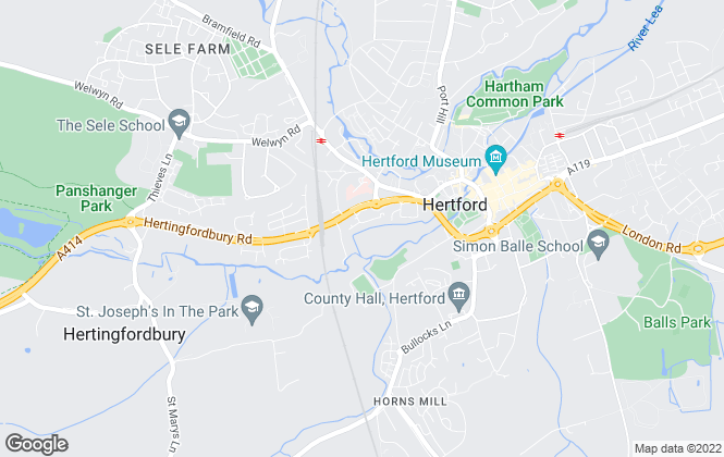 Map for Knight Property Management, Hertford