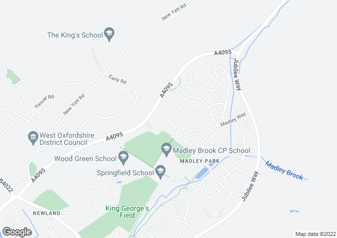 Map for Madley Park, WITNEY, Oxfordshire, OX28 1EQ