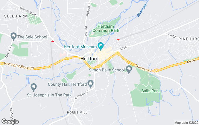 Map for William H. Brown, Hertford
