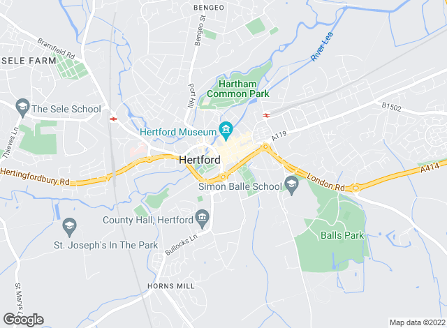 Map for Churchills Estate Agents and Surveyors, Hertford