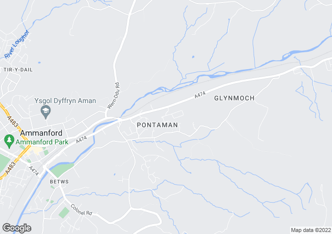 Map for Maesycoed, Pontamman, Ammanford