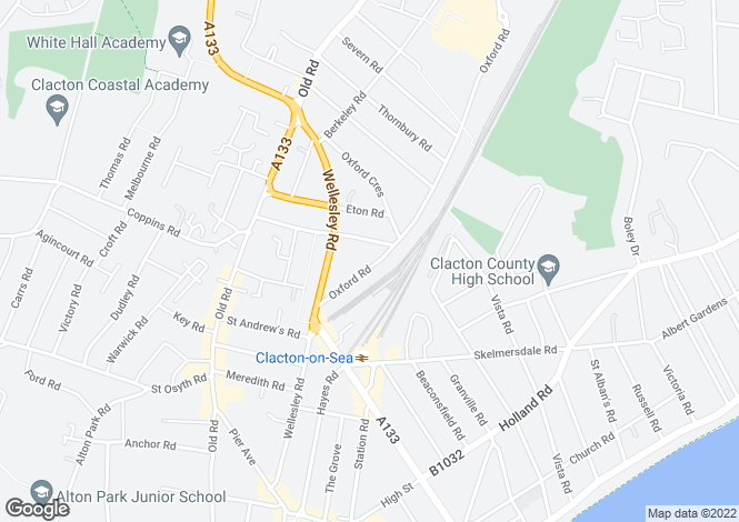 Map for CLACTON ON SEA