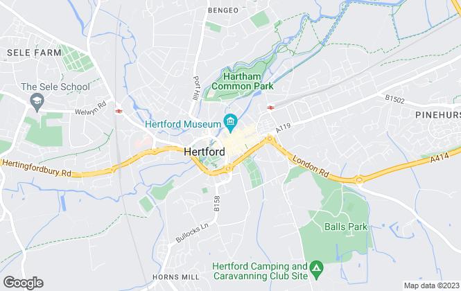 Map for Abel of Hertford, Hertford