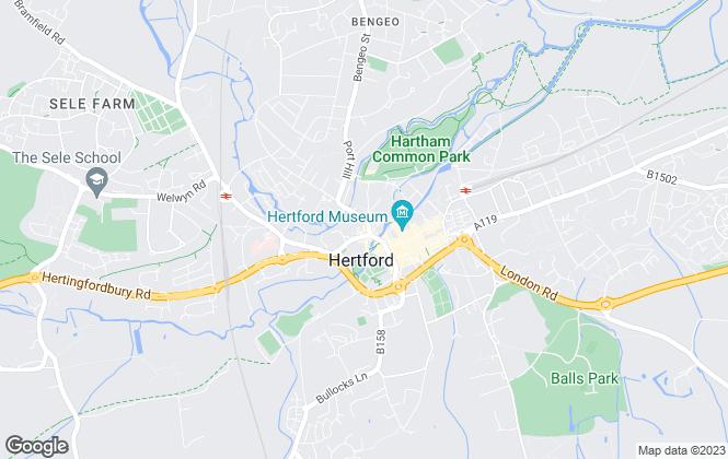Map for Hertford Property Services, Hertford