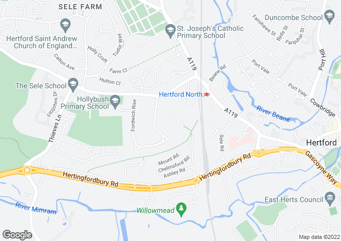 Map for Fordwich Hll, Hertford