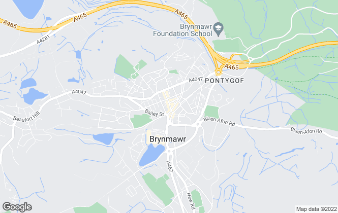 Map for Bidmead Cook & Fry Thomas, Brynmawr