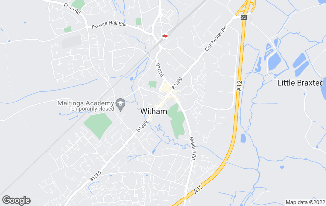 Map for Abbotts, Witham